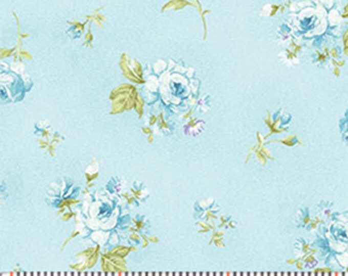 One Yard Christine - Zoey in Robin's Egg Blue - Cotton Quilt Fabric - Eleanor Burns for Benartex Fabrics - 718-55 (W2950)
