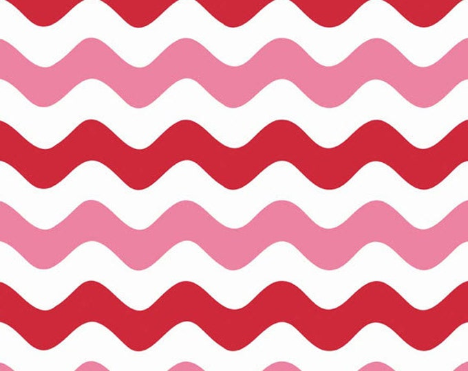 One Yard Wave - Waves in Valentines Colors - Cotton Quilt Fabric - RBD Designers for Riley Blake Designs - C415-14 (W3288)
