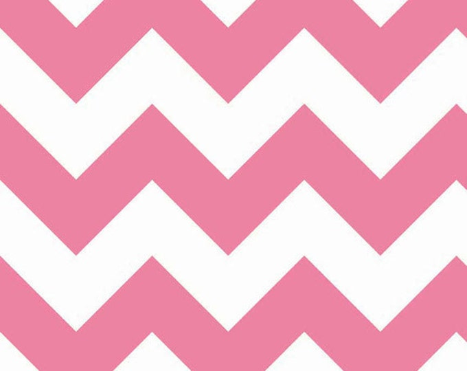 One Yard Large Chevron - Large Chevron in Hot Pink - Cotton Quilt Fabric - C330-70 - RBD Designers for Riley Blake Designs (W3310)