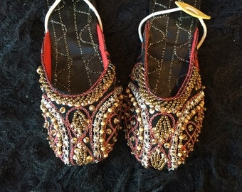 Baby shoes flat shoes toddler indian shoes asian shoes ballet flats embroidered shoes slippers shoes black baby girl shoes baby flat by Sami
