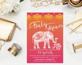 Moroccan Baby Shower - Indian Inspiration - India theme - Henna Elephant