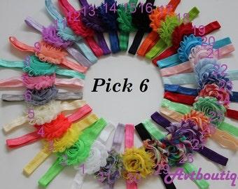 Baby girl headbands - baby girl - toddler girl headbands - elastic hedband - flower headbands - headband baby girl