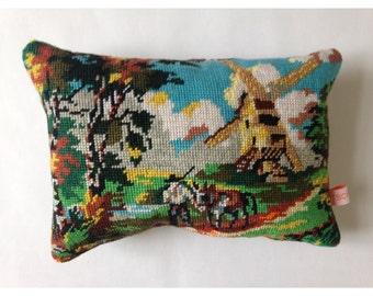 "Cushion canvas S ""Moulin"""