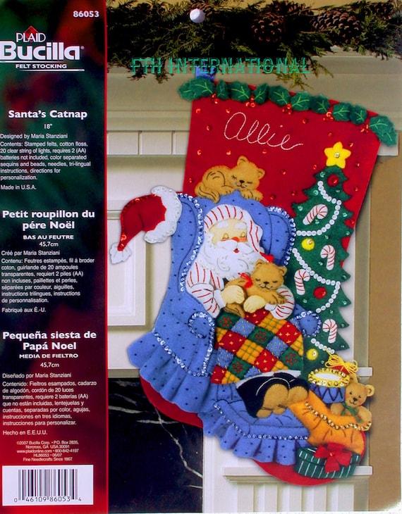 Santa Claus Felt Applique Stocking Kits Page Four