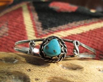 Turquoise and Sterling Cuff Bracelet
