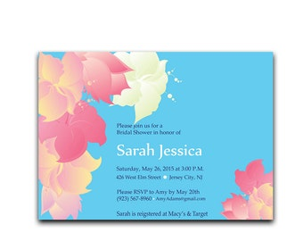 Hawaii bridal shower invitations | Etsy