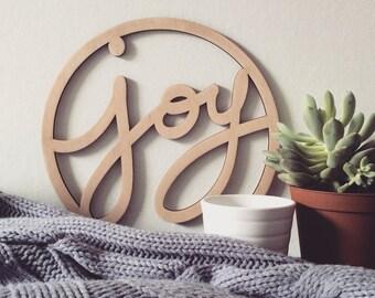 WOOD SIGN - Joy