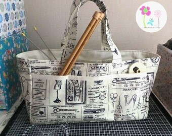Crafters knitting sewing craft storage bag wool caddy wip bag