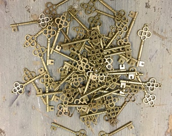 60 Key Embellishments, Jewelry/Scrapbooking/Card Making Supply