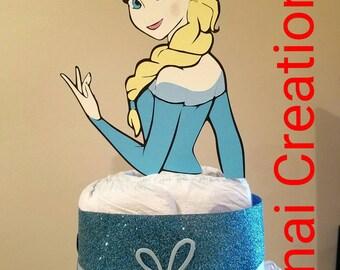 Elsa Diaper Cake
