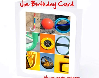 Joe Personalised Birthday Card
