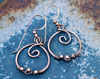 Hoop Earrings!  Available in Copper and Sterling Silver!  Great Gift!