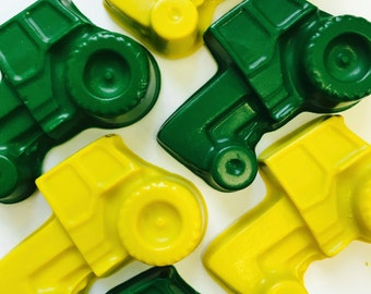 20 sets of 2 Tractor  Crayons Party Favors  - Farm - Transportation - John Deere Party