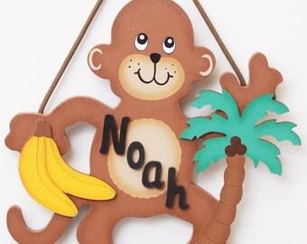 Personalized Monkey Sign-Jungle Theme