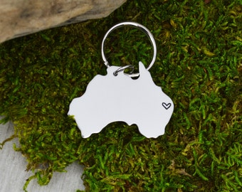 Australia Keychain or Necklace - Best Friend Gift - Couples Gift - Long Distance Love
