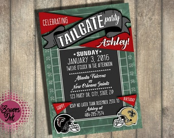 Tailgate Birthday Invitation- Baby Shower Invitation--Digital or Printed Option