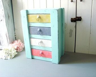 craft storage boxes etsy