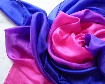 Silk Bellydance Veil Pink And Blue