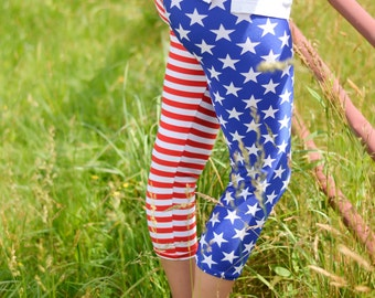 Usa leggings, Stars and Stripes, patriotic leggings, American leggings, fourth of july leggings, american flag leggings , Memorial Day