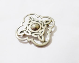 Celtic Knot Pewter Pin Back Brooch