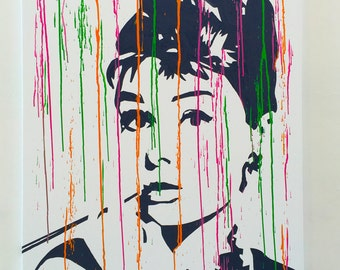 Modern painting Audrey Hepburn 75 x 100 cm. - Paintings on Canvas - Ready to Hang