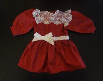 American Girl ~ Samatha: Cranberry Party Dress