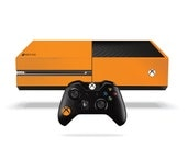 Xbox One Fluorescent Vinyl Wrap Bright Orange