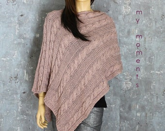 PONCHO Wool / Alpaka dusky pink