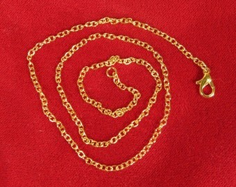 BULK! 12pc gold style 18 inch lobster clasp necklaces (JC97)