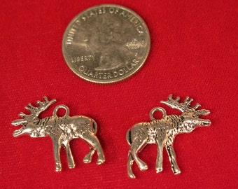 "10pc ""deer"" charms in antique silver style (BC1006)"