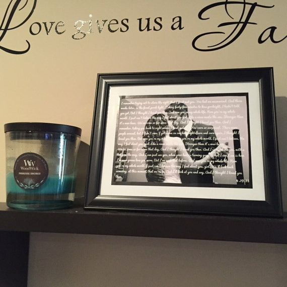 Personalized frame first dance husband wife anniversary gift