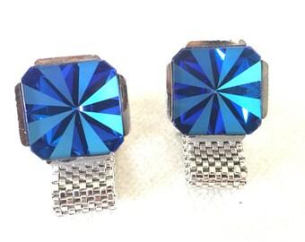 SALE Blue Glass Dante Cufflinks