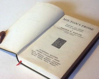 John Milton Poetry Book Vintage  Book Of Poems Hardback Green Gift