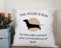 Dachshund Pet Cushion - Funny Quirky Cushion - Throw Pillow - Dog Cushion - Sausage Dog Lover - Adorable Gift - Pet Crazy - FREE UK DELIVERY