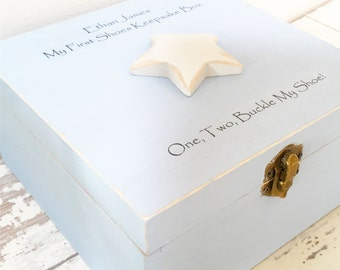 Baby's First Shoes Keepsake Box