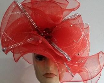 Red Glitter Fancy Hat