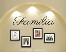 Familia Vinyl Decal Wall Decor