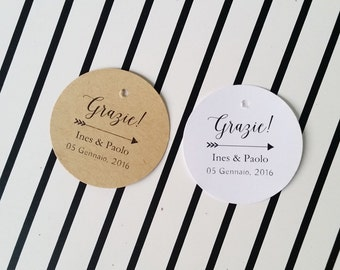 Rustic Wedding Favor Tags, Wedding Thank You Tags, Favor Bag Tags, Wedding Name Tag,Personalized Tags, 24 pcs