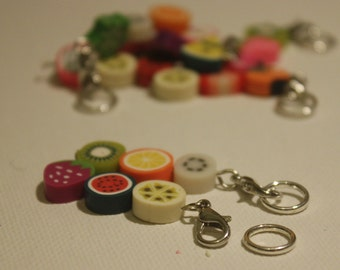 Fruit Chain Stitch Markers - For Knitting and Crochet