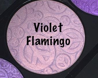 Violet Flamingo Highlighter Face & Eye Highlight Powder