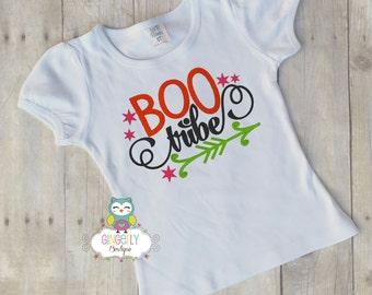 Boo Tribe Girls Halloween Shirt or Bodysuit, Girl Trick or Treat Shirt, Girl Halloween Shirt, Halloween Clothing, Girl Halloween, Halloween