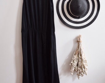 Black Maxi dress with button details