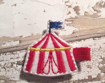 Circus tent feltie clip, hair clip, felt clippie