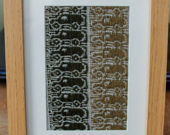 Framed Weave Sample // Transport // Land Rover Art // Framed art work // land rover fabric // transport fabric // hand woven / gifts for him