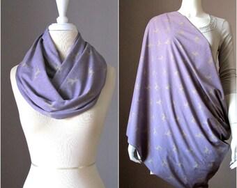 Nursing cover scarf, nursing cover, infinity scarf, Lilac scarf, breastfeeding cover, nursing cover up, breastfeeding scarf, nursing clothes