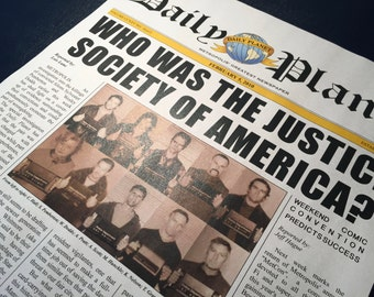 Smallville Daily Planet Newspaper - JSA Cover