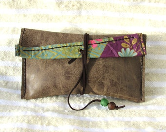 Vegan leather clutch bags