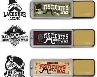 Fisticuffs Mustache Wax 3 Pack