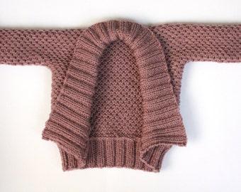 Hipster Knitting Patterns : PDF Knitting Pattern Hipster Trio Baby Set Harem Pant Hoodie