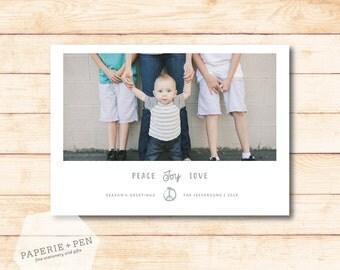 Peace Joy Love // Holiday Photo Card